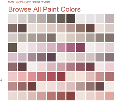 Browse Paint Colors